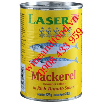 Cá Thu sốt Cà Chua đóng hộp Laser 425g