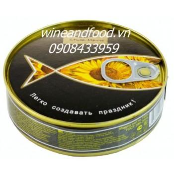 Cá trích Nga ngâm dầu hướng dương Stella Maris 160g