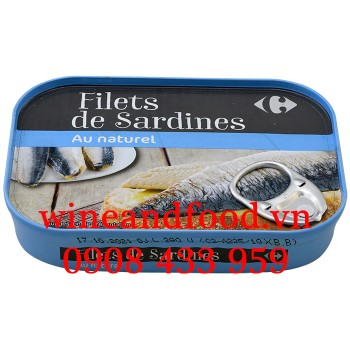 Cá trích phi lê đóng hộp Carefour 100g