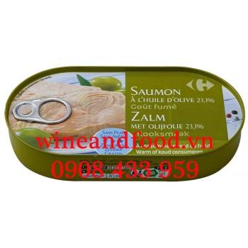 Phi lê cá Hồi ngâm dầu Oliu Carrefour 190g