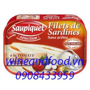 Phi lê cá Sardines với rau củ Saupiquet 100g