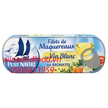 Phi lê cá thu sốt rượu vang trắng Petit Navire 175g