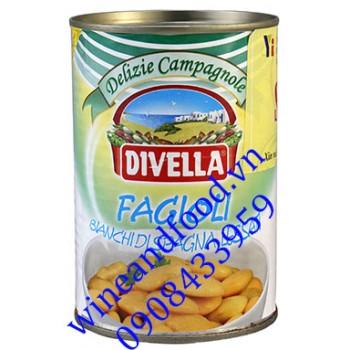 Đậu trắng Fagioli Divella đóng hộp 240g