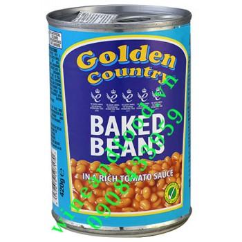 Đậu vàng hầm trong sốt cà chua Golden Country 420g