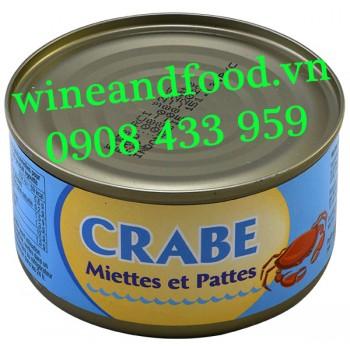 Thịt cua đóng hộp Crabe Miettes et Pattes 170g