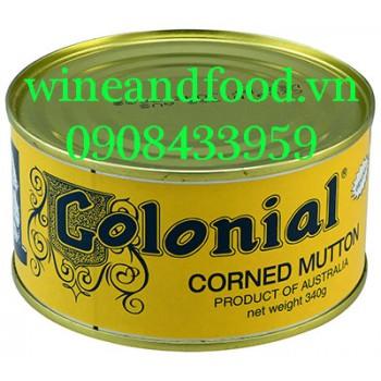 Thịt cừu nướng đóng hộp Colonial 340g