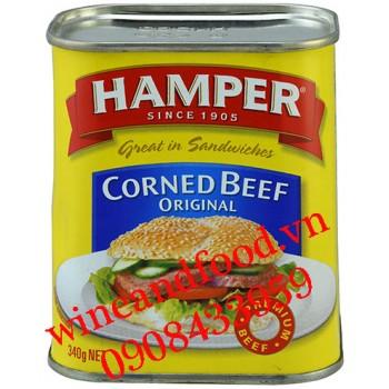 Thịt bò đóng hộp Corned Beef Original Hamper 340g