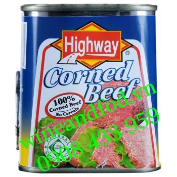 Thịt bò hộp Corned Beef Highway 340g