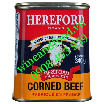 Thịt Bò Pháp đóng hộp Hereford 340g