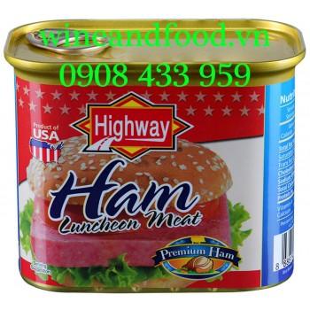 Thịt heo đóng hộp Ham Luncheon Meat Highway 340g