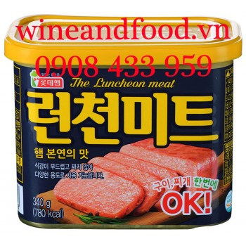 Thịt heo đóng hộp The Luncheon Meat Lotte 340g