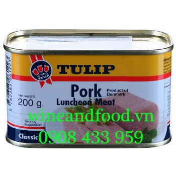 Thịt heo hộp Tulip Pork Luncheon Meat Classic 200g