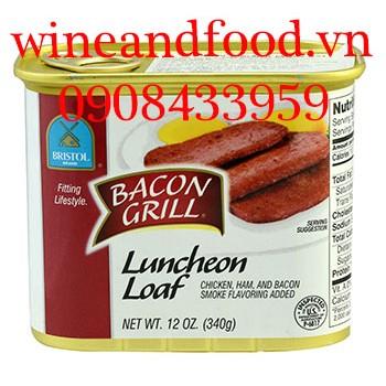 Thịt heo xông khói Bacon Grill Bristol 340g
