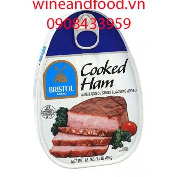 Thịt hộp cooked ham Bristol 454g