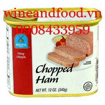 Thịt hộp Ham Bristol xắt nhỏ 340g