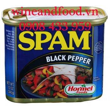 Thịt hộp Spam Black Pepper 340g