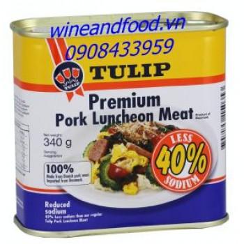 Thịt hộp Tulip Pork Luncheon Meat less sodium 340g