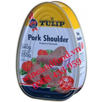 Thịt vai Heo đóng hộp Tulip 340g