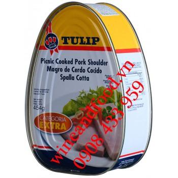 Thịt vai heo hộp Categoria Extra Tulip 454g