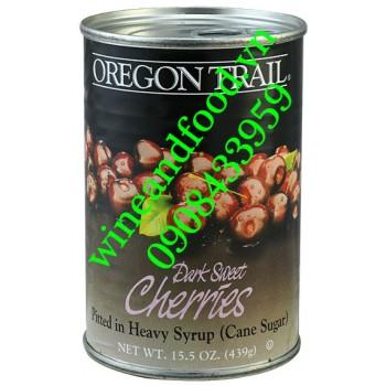 Trái Cherry đen không hạt ngâm nước đường Oregon Trail 439g