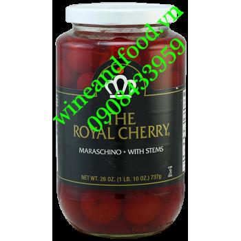 Trái Cherry Maraschino nguyên cuốn The Royal Cherry ngâm Siro bắp 737g
