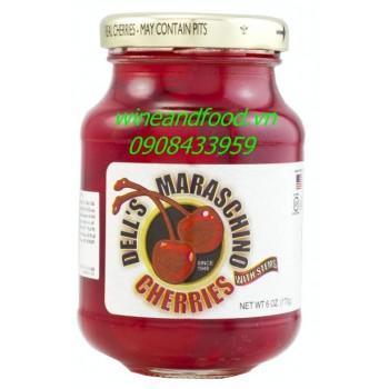 Trái cherry ngâm Dell's Maraschino 170g