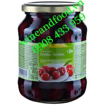 Trái Cherry ngâm Griottes Krieken Carrefour hũ 680g