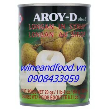 Trái nhãn ngâm nước đường Aroy D 230g