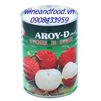 Trái vải ngâm nước đường Aroy D 565g