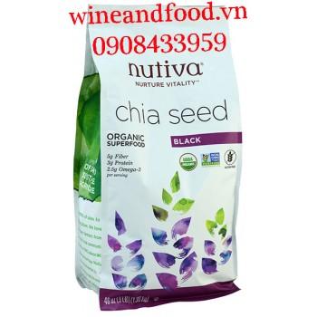Hạt Chia Đen Nutiva Organic Úc 1kg36