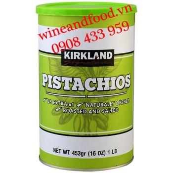 Hạt dẻ cười Pistachios rang muối Kirkland lon 453g