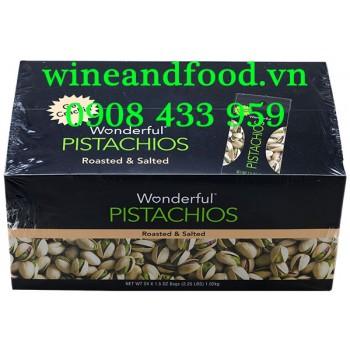 Hạt Dẻ Cười Pistachios Wonderful rang muối hộp 1kg02