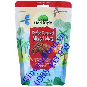 Hạt hỗn hợp vị cà phê Caramel Heritage 130g