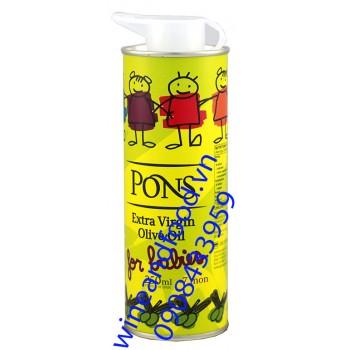 Dầu oliu for babies Pons extra virgin 250ml