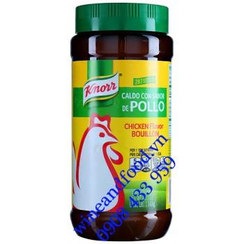 Hạt nêm Knorr Gà Chicken Flavor Bouillon Mỹ 1kg14