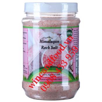 Muối hồng Himalayan Rock Salt mịn tự nhiên 500g