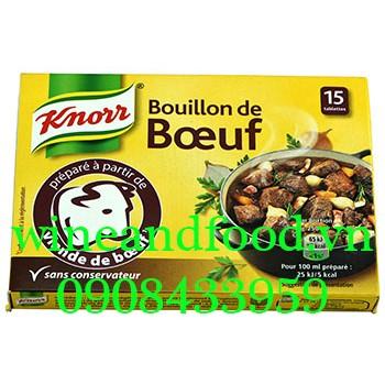 Viên bột nêm Knorr bò Pháp hộp 15 viên