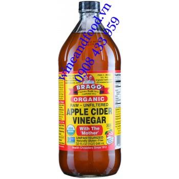 Giấm Táo hữu cơ Bragg Organic 946ml
