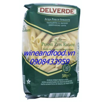 Nui ống Delverde 500g