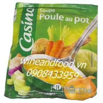 Súp gà rau củ Casino 72g