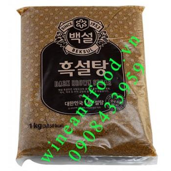 Đường nâu đen Beksul Hàn Quốc pha trà sữa 1kg