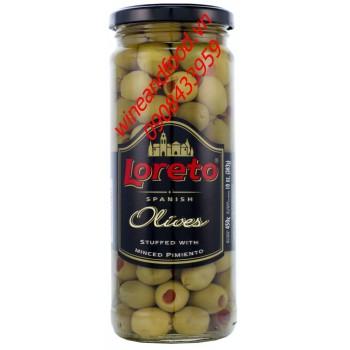 Trái oliu nhồi ớt Loreto 450g