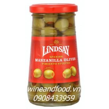 Trái Oliu nhồi ớt ngọt Lindsay 163g