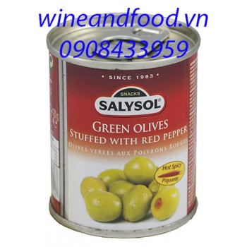 Trái Oliu nhồi ớt Salysol 120g