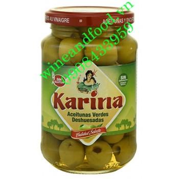 Trái oliu xanh tách hạt Karina 360g