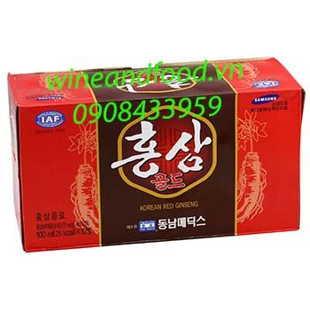 Nước hồng sâm Hàn Quốc hộp 10 chai