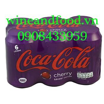 Nước ngọt Coca Cola cherry Pháp 330ml