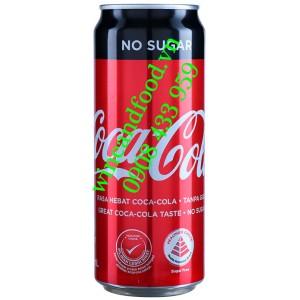 Nước ngọt Coca Cola không đường lon 320ml