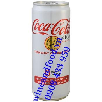 Nước ngọt Coca Cola không đường thêm chất xơ 330ml