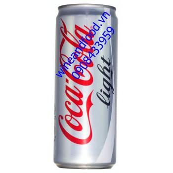 Nước ngọt Coca Cola light không đường lon cao 330ml